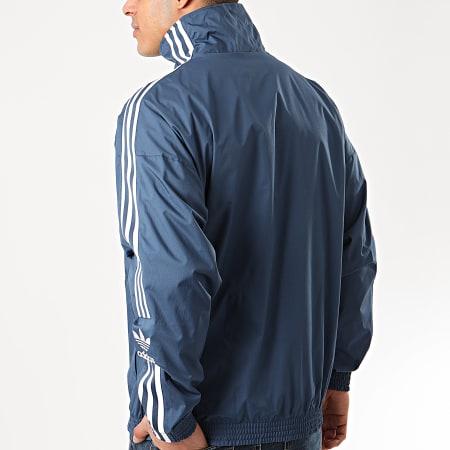 adidas - Veste Zippée A Bandes Ripstop FM9883 Bleu Marine