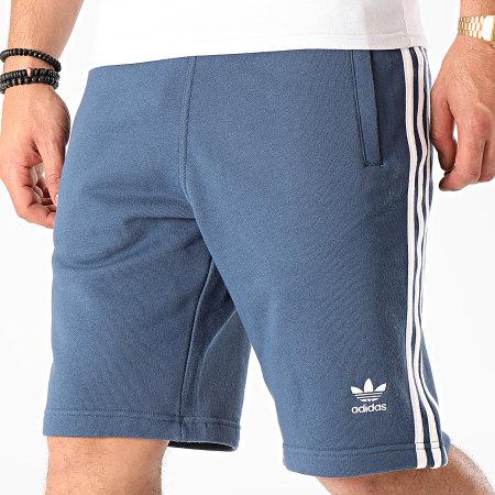 adidas - Short Jogging A Bandes 3 Stripes FM3806 Bleu Marine