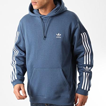 adidas - Sweat Capuche A Bandes Tech FM3801 Bleu Marine