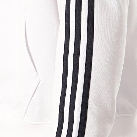 adidas - Sweat Capuche A Bandes Shadow Trefoil FM1502 Blanc