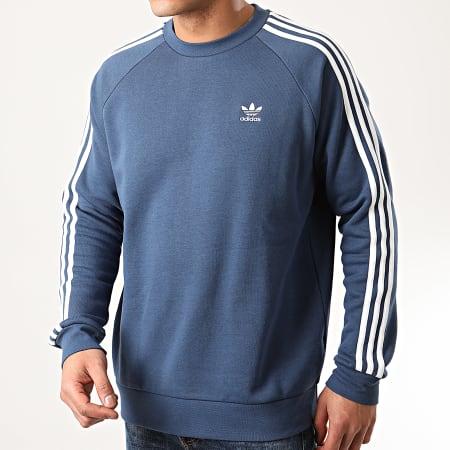 adidas - Sweat Crewneck A Bandes 3 Stripes FM3778 Bleu Marine
