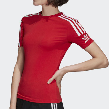 *adidas - Tee Shirt Femme A Bandes Tight FM2594 Rouge