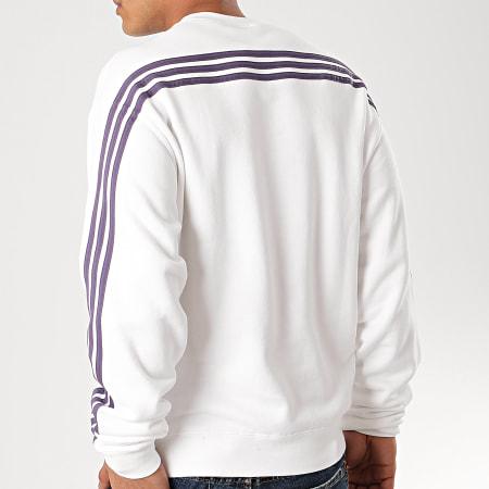adidas - Sweat Crewneck A Bandes 3 Stripes Wrap FM1519 Blanc