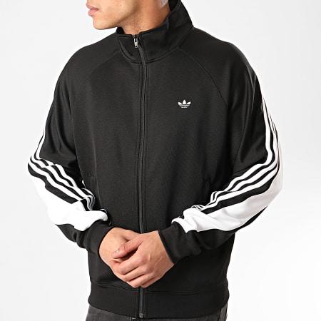adidas - Veste Zippée A Bandes 3 Stripes Wrap FM1525 Noir