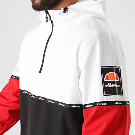 Ellesse - Coupe-Vent Capuche A Bande Orba Tricolore Blanc Noir Rouge