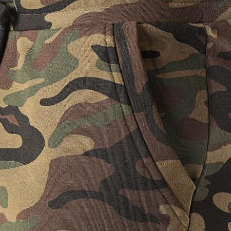 LBO - Short Jogging 1074 Camouflage Vert Kaki