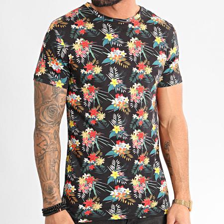 MTX - Tee Shirt TM0343 Noir Floral