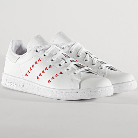 adidas - Baskets Femme Stan Smith EG6495 Cloud White Lush Red