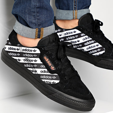 adidas - Baskets Continental Vulc EG8778 Core Black Semi Coral