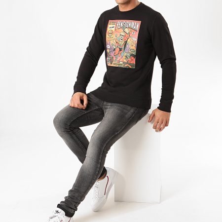 Vald - Sweat Crewneck Pensionman Noir