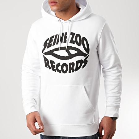 Seine Zoo - Sweat Capuche Logo Blanc