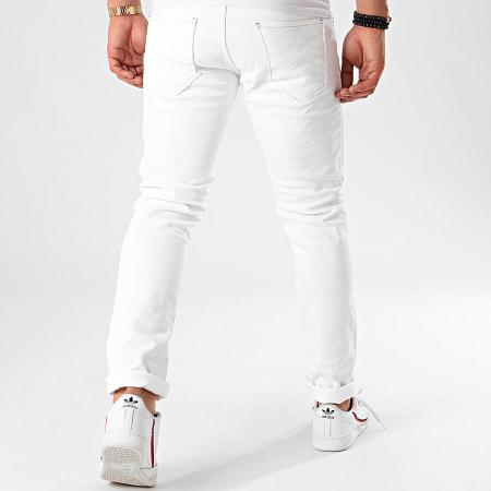 Aarhon - Jean Slim 8040 Blanc