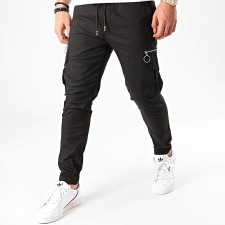 Aarhon - Pantalon Cargo 23809 Noir