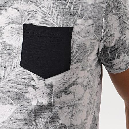 La Maison Blaggio - Tee Shirt Poche Floral Myane Blanc Bleu Marine