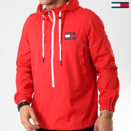 Tommy Jeans - Coupe-Vent Contrast Zip Popover 7792 Rouge