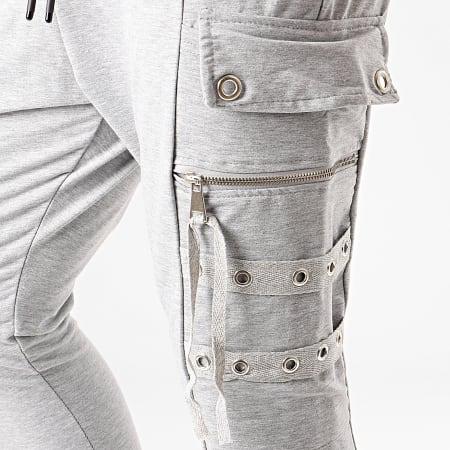 Ikao - Pantalon Jogging F673 Gris Chiné