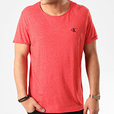 Calvin Klein - Tee Shirt Grindle Raw Edge 5169 Rouge Chiné