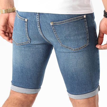 LBO - Short Jean Skinny Fit Déchiré 1003 SS-10G Denim Bleu