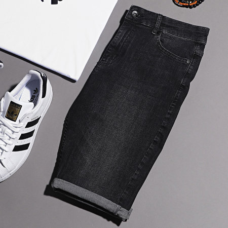 LBO - Short Jean Skinny Fit 1001 SS-12A Denim Noir