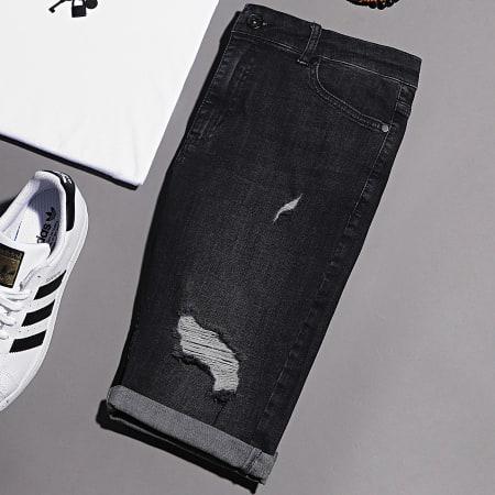 LBO - Short Jean Skinny Fit 1005 SS-12G Denim Noir