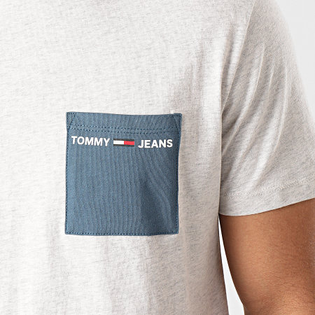 Tommy Hilfiger Jeans - Tee Shirt Poche Contrast Pocket 8097 Gris Chiné