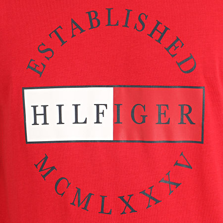 Tommy Hilfiger - Tee Shirt Corp Circular 2532 Rouge