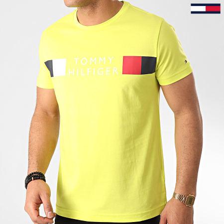 Tommy Hilfiger - Tee Shirt RWB Box Outline 3330 Vert Fluo