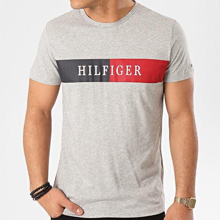 Tommy Hilfiger - Tee Shirt Block Stripe 3331 Gris Chiné