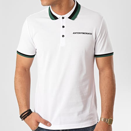 Antony Morato - Polo Manches Courtes Sport The Green Lin MMKS01713 Blanc
