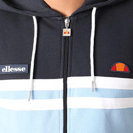 Ellesse - Sweat Zippé Capuche Vedere SHE08509 Bleu Clair Bleu Marine