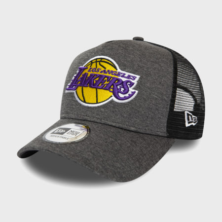 New Era - Casquette Trucker Shadow Tech 12285268 Los Angeles Lakers Gris Chiné