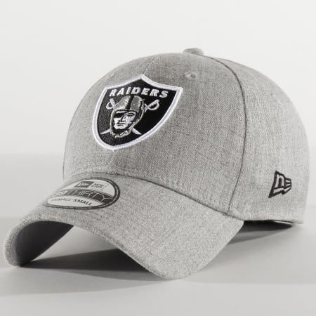 New Era - Casquette Fitted 39Thirty Heather 12285453 Oakland Raiders Gris Chiné