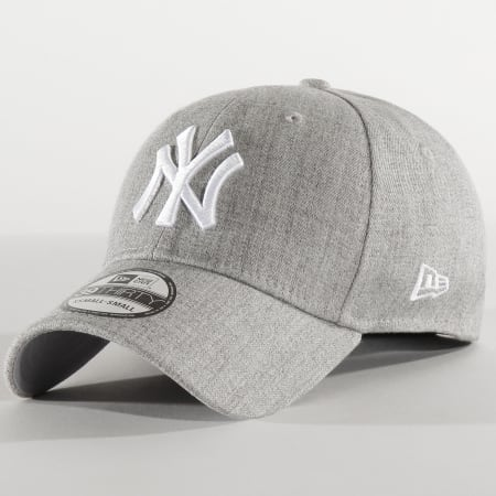 New Era - Casquette Fitted 39Thirty Heather 12285454 New York Yankees Gris Chiné