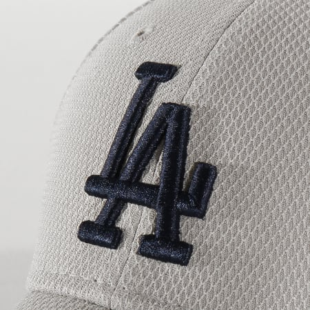 New Era - Casquette Fitted 39Thirty Diamond Era 12285525 Los Angeles Dodgers Gris