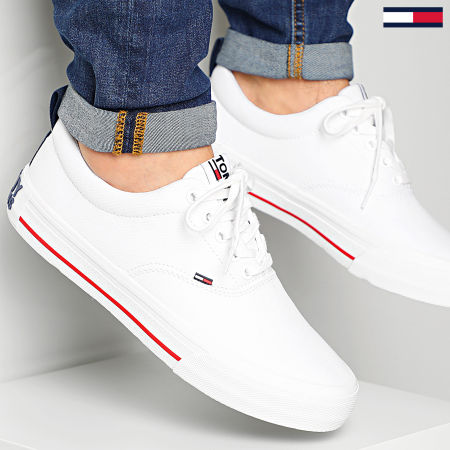 Tommy Jeans - Baskets Classic Low Tommy Jeans Sneaker 0405 White