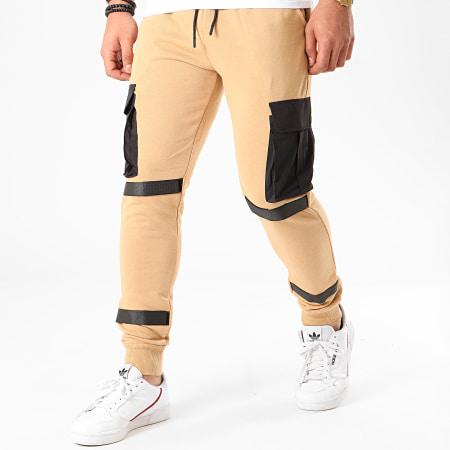 Zayne Paris - Pantalon Jogging TX-523 Beige Foncé