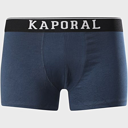 Kaporal - Lot De 3 Boxers Quad Noir Gris Chiné Bleu Marine