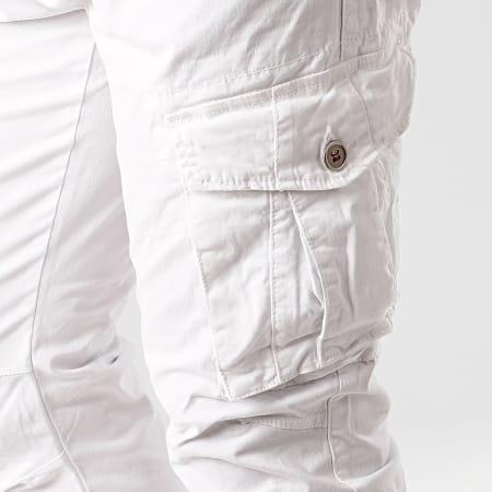 Terance Kole - Pantalon Cargo 13050 Blanc