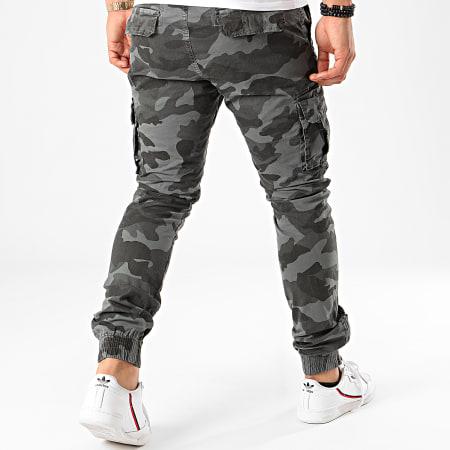 Terance Kole - Pantalon Cargo Camouflage 13051 Gris