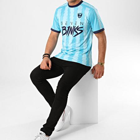 7 Binks - Tee Shirt Razor Bleu Ciel