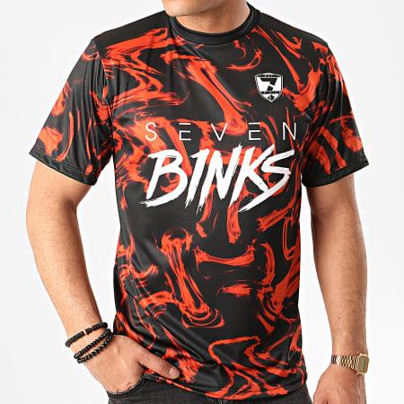 7 Binks - Tee Shirt Razor Noir Orange