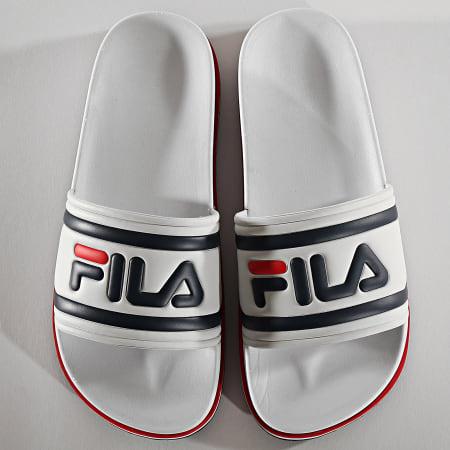 Fila - Claquettes Femme Morro Bay Zeppa 1010639 White Stripe
