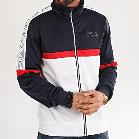 Fila - Veste Zippée Tricolore Leo 683092 Blanc Bleu Marine Rouge