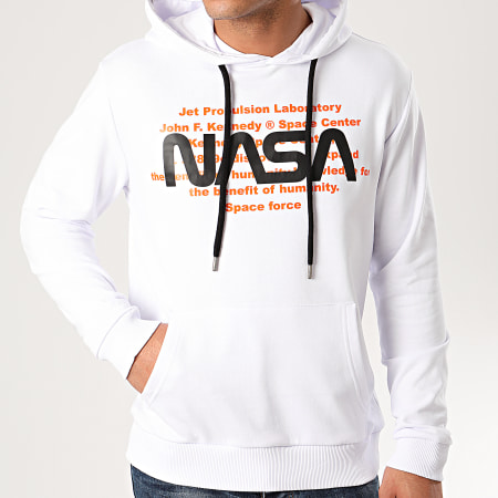 NASA - Sweat Capuche Space Force Blanc