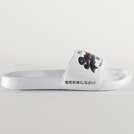 Superdry - Claquettes Vintage Logo Blanc