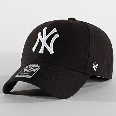 '47 Brand - Casquette MVP Adjustable MVPSP17WBP New York Yankees Noir Blanc