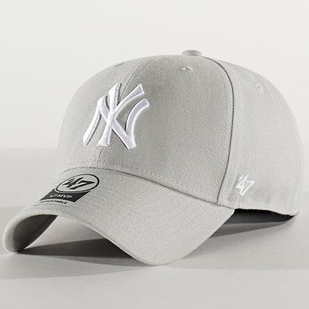 '47 Brand - Casquette MVP Adjustable MVPSP17WBP New York Yankees Gris