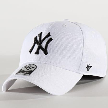 '47 Brand - Casquette MVP Adjustable MVPSP17WBP New York Yankees Blanc Noir