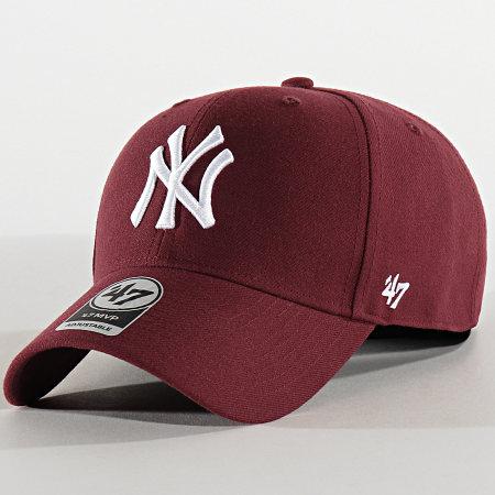 '47 Brand - Casquette MVP Adjustable MVPSP17WBP New York Yankees Bordeaux