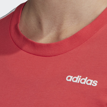 *adidas - Tee Shirt Femme A Bandes 3 Stripes FM6431 Rouge